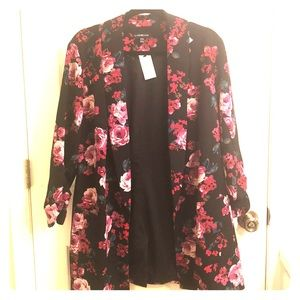 Sz 18/20 Floral long length blazer NWT